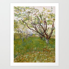 Flowering Orchard by Vincent van Gogh Art Print