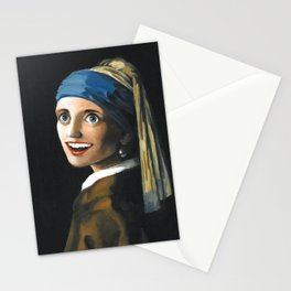 Overly Attached Pearl Earring Stationery Cards