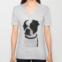 Tucker the Boston Terrier Unisex V-Neck