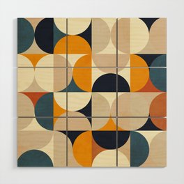 mid century abstract shapes fall winter 1 Wood Wall Art