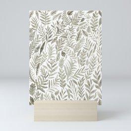 Grey Botanical Mini Art Print