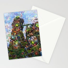 DeepDream Pictures, Rocks Stationery Cards
