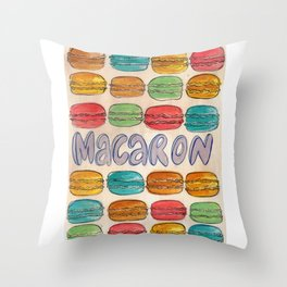 Macaron NOT Macaroon Throw Pillow