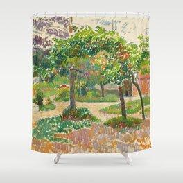 "Camille Pissarro ""Jardin à Éragny"" Shower Curtain"