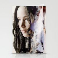 katniss Stationery Cards featuring katniss by phoebe-designs