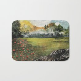Poppies field Bath Mat
