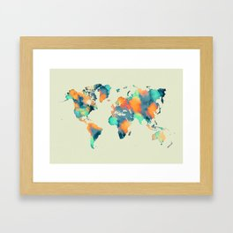 map world map 57 Framed Art Print