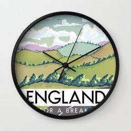 England for a Break. Wall Clock