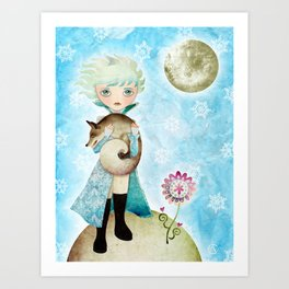 Wintry Little Prince Art Print