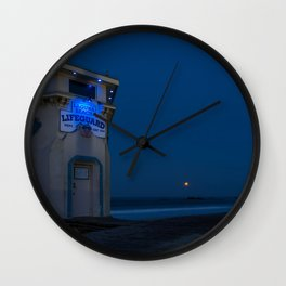 Moonset from Main Beach Wall Clock