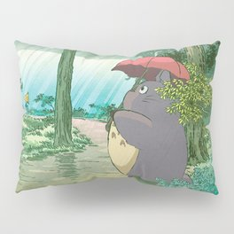 Anime and vintage japanese woodblock mashup Pillow Sham