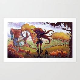 Witchy Days Art Print