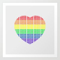 pride Art Prints featuring Pride by Tony Vazquez