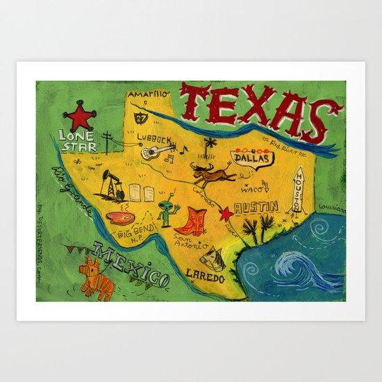 Postcard from Texas print Art Print