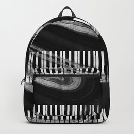 Modern Art Black And White Piano - Sharon Cummings Backpack