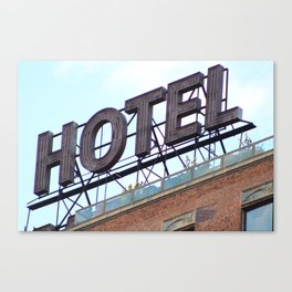 HOTEL ANONYMOUS Canvas Print