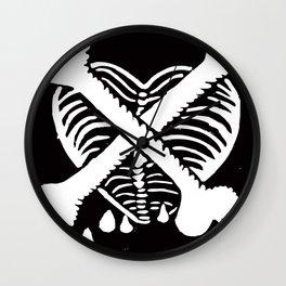 Love Hazard Symbol Wall Clock