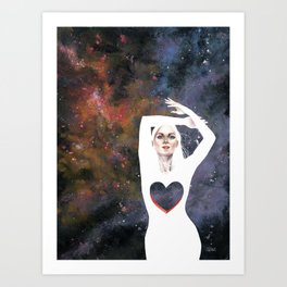 Love is infinite as the Cosmos Art Print