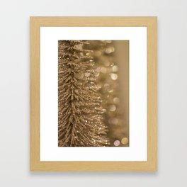 Golden Christmas Gliter Tree Decoration Framed Art Print