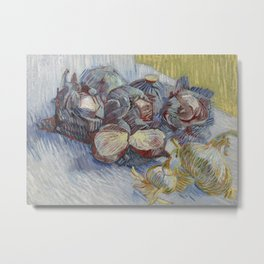 Red Cabbages and Onions Metal Print