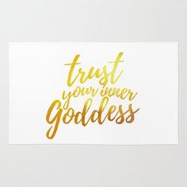 Trust Your Inner Goddess (Gold) Rug