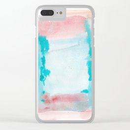 180815 Watercolor Rothko Inspired 9| Colorful Abstract | Modern Watercolor Art Clear iPhone Case