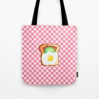 novelty Tote Bags featuring Good morning by Anna Alekseeva kostolom3000