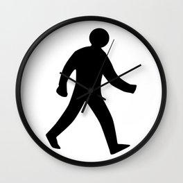 Walking Man Silhouette Wall Clock