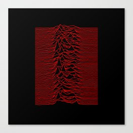 Joy Division - Unknown Pleasures [Red Lines] Canvas Print
