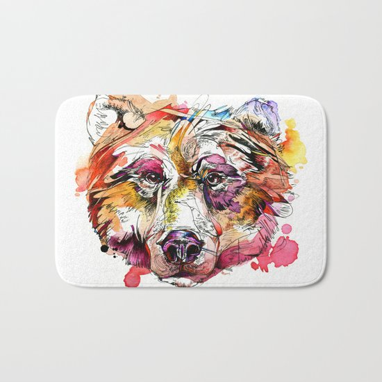 Vivid Grizzly Bath Mat