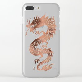 Chinese Dragon – Rose Gold Palette Clear iPhone Case
