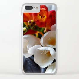 bouquet of freesias Clear iPhone Case