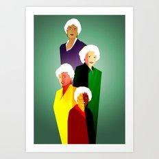 GOLDEN GIRLS  Art Print