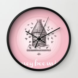 Honey Bee Mine {soft pink} Wall Clock