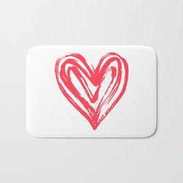 Hand drawn doodle heart Bath Mat