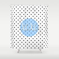 xoxo Shower Curtains featuring XOXO by Pati Designs & Photography
