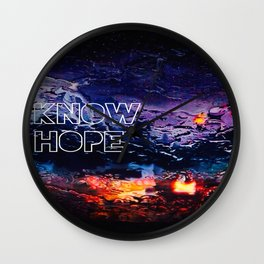 Know Hope Wall Clock