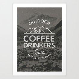 Outdoor Coffee Drinkers Club Art Print