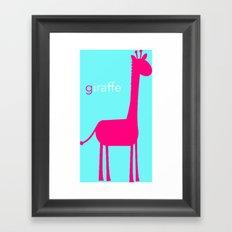 Pink Giraffe Framed Art Print
