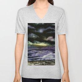 Lavender Waves Unisex V-Neck