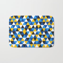 Colorful Triangles Pattern 1 Bath Mat