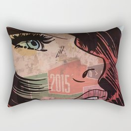 Comic girl affiche poster Rectangular Pillow
