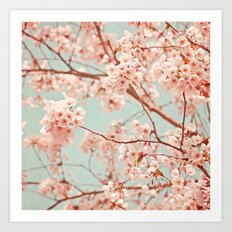 blossoms all over Art Print