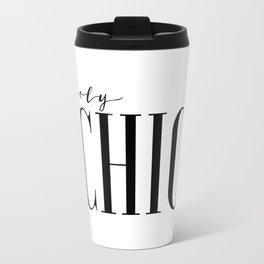 Printable Wall Art Fashion Art Fashion Girl Fashionista Holy Chic Girls Room Print Black And White Travel Mug