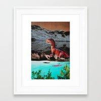 dinosaur Framed Art Prints featuring Dinosaur by John Turck