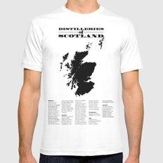 Distilleries of Scotland MEDIUM White Mens Fitted Tee