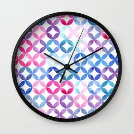 Geometric pattern with petals. Turkish pattern. Wall Clock