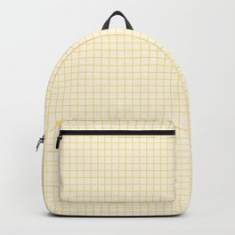 Aspen gold small grid on light yellow Backpack