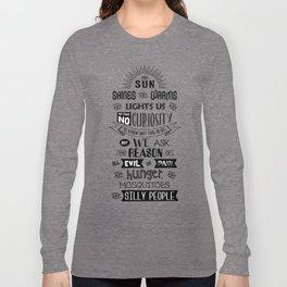 Lab No. 4 The Sun Shines Ralph Waldo Emerson Inspirational Quote Long Sleeve T-shirt