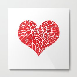 Shattered Heart Metal Print
